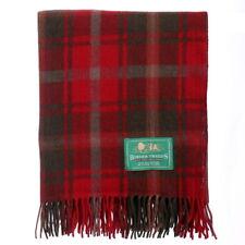 BORDER TWEEDS Knee Travel Rug Blanket Wool Tartan - Dark Maple