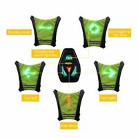 Reflective Safety Vest Led Back Light Signal Coat Outdoor Running Cycling Cover