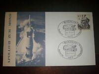 """FDI allunaggio 26-7-1971 Luna """"Apollo XV"""" illustrazione lancio stupenda"""