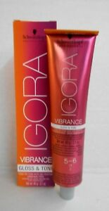 Schwarzkopf Igora VIBRANCE GLOSS AND TONE Hair Color ~2.1 oz~ Buy 4; Get 2 FREE!