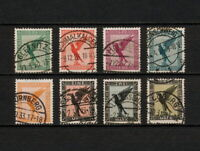 (YYAW 196) Germany 1926 USED Mich 378 - 384 Scott C27 - C34  AIR