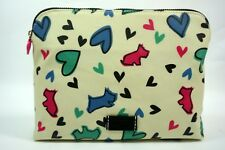 Radley NEW Large Wash Cosmetic Make Up Bag Love Me, Love My Dog Cream