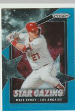 MIKE TROUT 2020 PANINI PRIZM BLUE REFRACTOR STAR GAZING INSERT #1