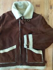 Vintage Joo May Shearling Lined Suede Jacket Size 42
