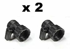2 x Pcs On/Off Water Valve Adaptor for Expanding Garden Hose Xhose Stretch hose
