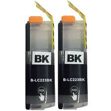 2Bk Ink Cartridge For Brother LC223 DCP-J4120DW MFC-J5625DW J5720DW Printer