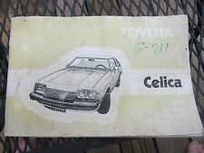 1978 Toyota Celica owners manual...........e