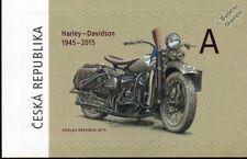 HARLEY DAVIDSON WLA Military Motorcycle WWII US Army Motorbike Stamp (2015)