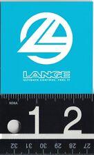 LANGE BOOTS STICKER Lange Blue/White 2.5 in Square Skiing Sticker