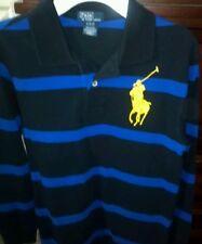 Youth Boys Polo Ralph Lauren Long Sleeve Striped Big Pony Shirt Size 10-12