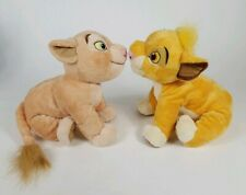 "Disney Store The Lion King Set Simba and Nala 14"" Plush stuffed animal"