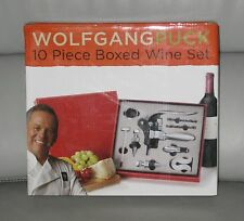 Wolfgang Puck 10 Piece Boxed Wine Opener Set Red NEW SOLD OUT!