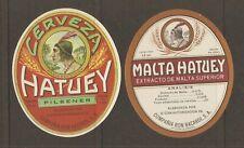 1cuba Havana Hatuey Pilsener , Malt Labels vintage beer, wine, liquor