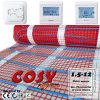 Electric Underfloor Heating mat kit150w per m2 All Sizes in this Listing