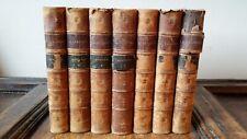 1850 MEMOIRES DE J CASANOVA DE SEINGALT - LEATHER BINDINGS - 7 VOLS ONLY