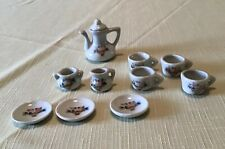 10 Piece Miniature Tea Set - Basket of Flowers