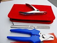 PROF_Nail File+ 2 x Pet Grooming Heavy Duty Nail Clipper Cutter Dog Cat Claw Paw