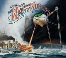 JEFF WAYNE: THE WAR OF THE WORLDS 2x CD RICHARD BURTON / JUSTIN HAYWARD / NEW