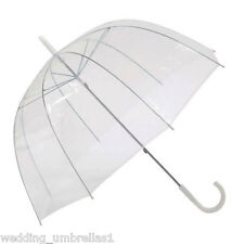 Willow Tree Birdcage Clear Translucent Dome Umbrella Wedding/Rain Parasol
