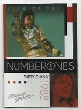 2011 Panini Michael Jackson King Of Pop Number Ones Platinum #188 (DIRTY DIANA)