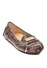 Vionic 'EASY SYDNEY' Leather Loafers W/Orthaheel BROWN SNAKE Sz. 5 M NIB