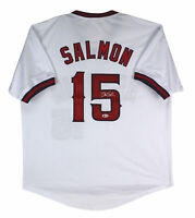 Angels Tim Salmon Authentic Signed White Jersey Autographed BAS