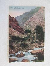 E424 Postcard Ogden Canyon Utah UT Train Railway