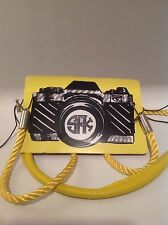 Anthropologie Leather Camera Strap Deluxe SFK Yellow By Sarah Francis Kuhn  $94