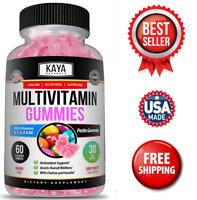 Multi Vitamin Gummy, 60 Count, Biotin, Vitamin A, C & E, Zinc & Vitamin B-12
