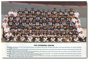 1978 Pittsburgh Steelers Vintage Team Photo/Poster (comes in 4 sizes)
