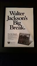 Walter Jackson Feeling Good Rare Original Promo Poster Ad Framed!