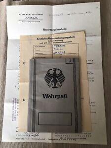 Frühe Bundeswehr Wehrpass und Dokumente 1960