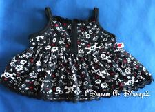 NEW Build-A-Bear BLACK SUN DRESS HOT TOPIC Skull & Crossbones Teddy Clothes