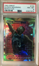 1993/94 TOPPS FINEST ALONZO MOURNING REFRACTOR #104 PSA NM MT 8