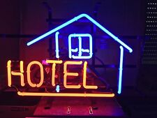 Wall Hanging Handmade Visual Artwork  Neon Sign Light  HOTELMotel Lodge