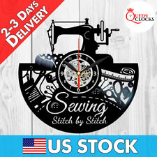 Quilting Clock Vinyl Wall Art Decor Sew Decorations Sewing Christmas Gifts Women