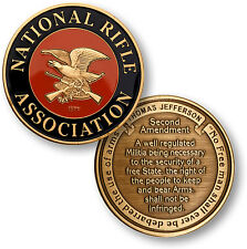 National Rifle Association NRA - Second Amendment - Bronze Challenge Coin
