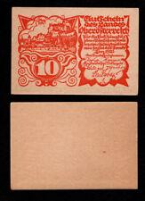 GERMANY, 1921, AU, 10 Pfennig, Notgeld Banknote,  FC8ADD