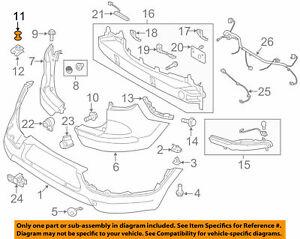 (2) Blind Rivet - Bumper, Fender Liner GENUINE KIA 14160 03080