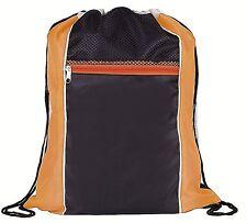 Arancione & Nero Neon coulisse Borsa, sport, palestra, nuoto, sacchetto di libro, Viaggi
