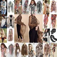 Fashion Women Retro Boho Cotton Scarf Wrap Ladies Shawl Girls Large Silk Scarves