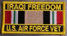 Embroidered Patch Gulf War Iraqi Freedom Veteran Air Force NEW