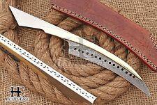 HUNTEX Custom Handmade Damascus Steel 28 cm Long Hunting Camping Hawkbill Knife