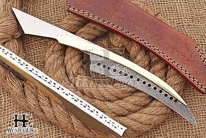HUNTEX Custom Handmade Damascus Steel 280 mm Long Hunting Camping Hawkbill Knife