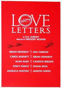 LOVE LETTERS Alan Alda & Candice Bergen Signed Poster