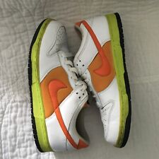 Nike Dunk Size 9 Men's White Orange Light Green Black