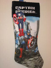 "Marvel Captain America Christmas 18"" Stocking + 7"" Removable Puppet NWT"