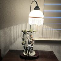 """Vintage 24"""" THE CROSA COLLECTION Table Lamp w/ Mother & Child Sitting Under Tree"""