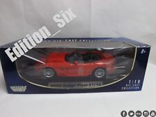 MOTORMAX 1:18 2003 Dodge Viper RT/10 American Muscle Car NUEVO