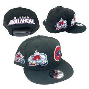 Colorado Avalanche NHL New Era 9FIFTY Retro Logo Snapback Adjustable Hat